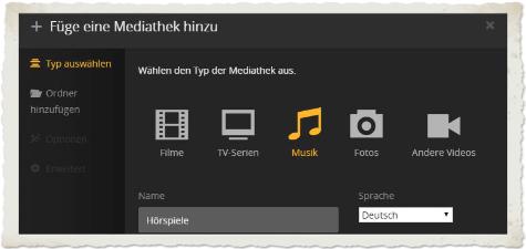 Beitragsbild-Hörspiel-Mediathek-in-Plex erstellen