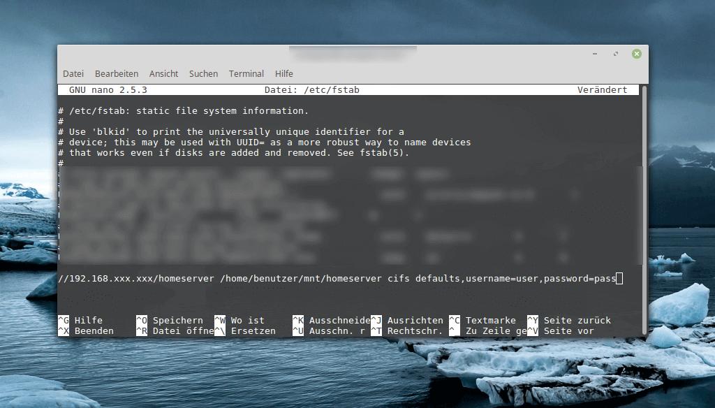 Linux FSTAB