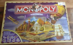 Monopoly Weltreise Vorderseite