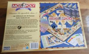 Monopoly Weltreise Rückseite