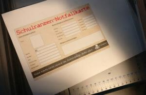 Schulranzen-Notfallkarte Zuschnitt