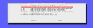 SSH unter Raspbian aktivieren - Auswahl SSH