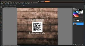 Smartphoto.de Corel mit Logo von Couchpirat.de, Vorbereitungen vor dem YT-Video
