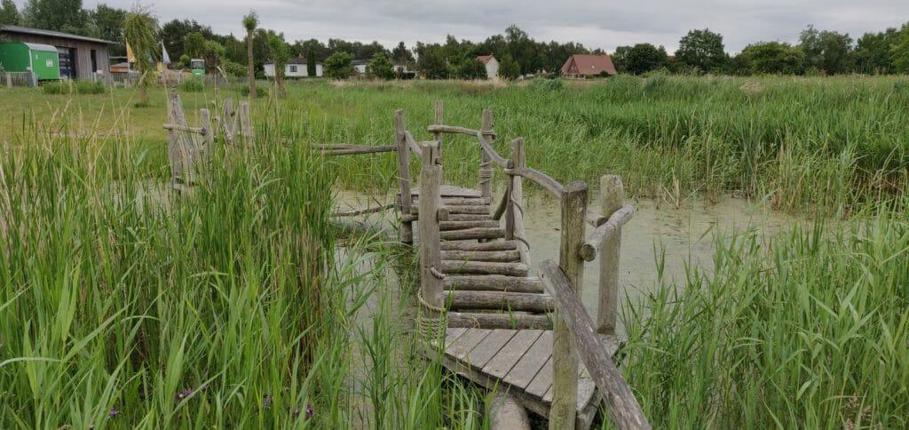 Piratensteg über den Sumpf
