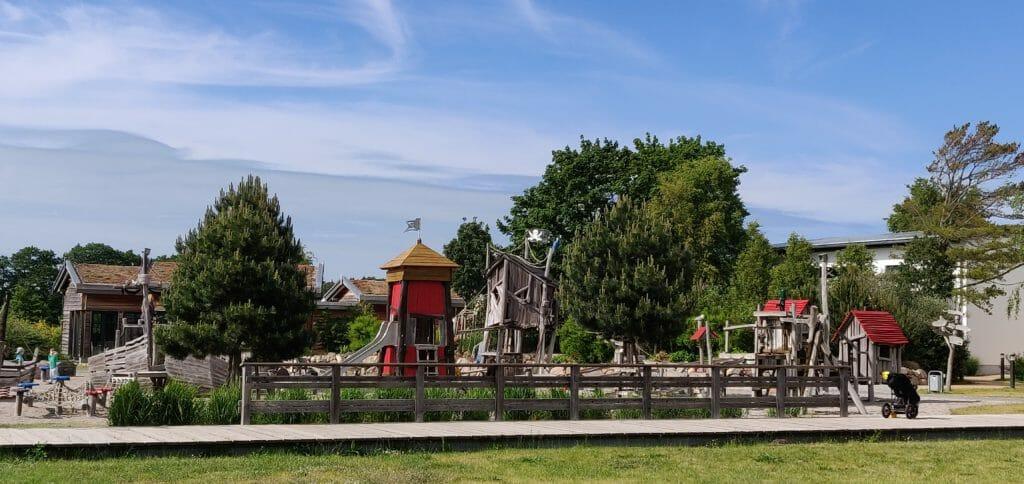 Kleinkinder-Bereich mit Wasserspielplatz